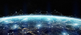lights connecting countries on planet earth- digital transformation executive search